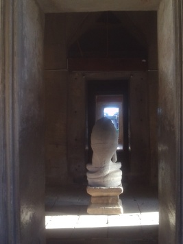 Buddha image from behind